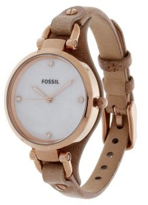 Fossil Brown Leather Watch Womens