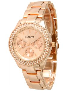 Geneva Watches for Women Rose Gold