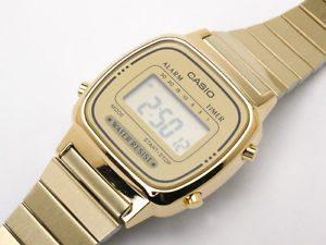 Ladies Gold Digital Watch