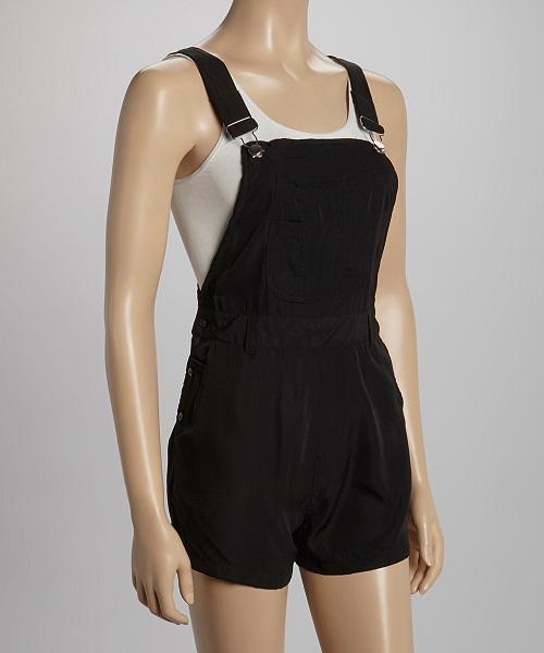 Black Overall Shorts Wardrobemag Com