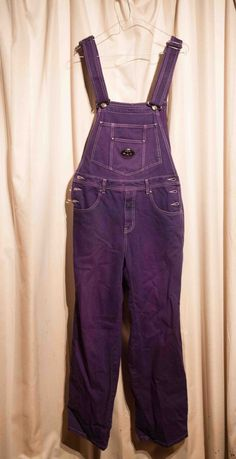 purple overalls wardrobe mag