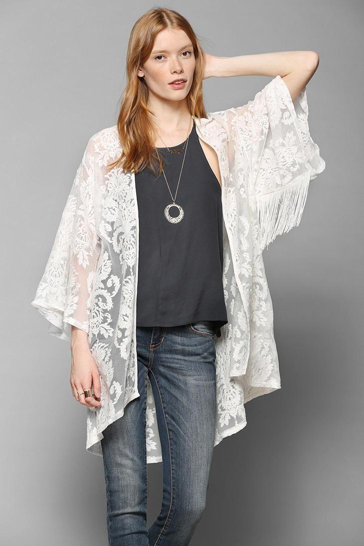 White Kimono Outfit