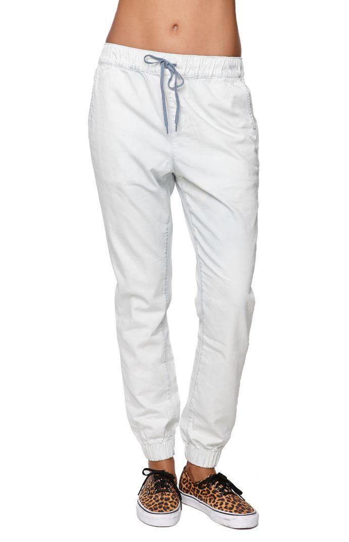 new arrival e54d3 bbc6d Women s White Jogger Pants   WardrobeMag.com