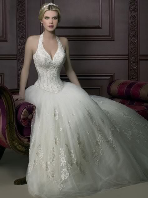 Halter Top Corset Wedding Dresses