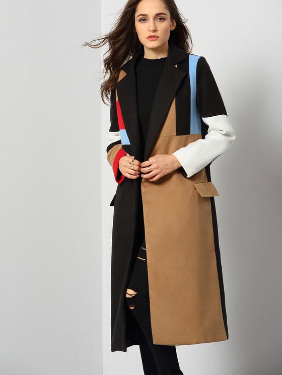 Color Block Trench Coat Wardrobemag Com