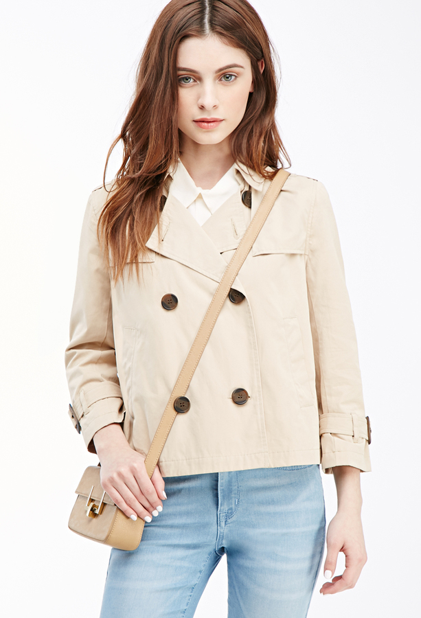 Cropped Trench Coat Wardrobe Mag