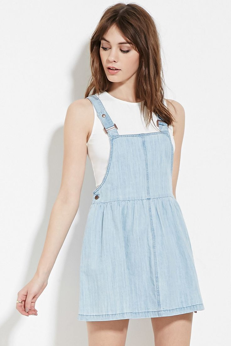 Denim Overall Dress Wardrobe Mag
