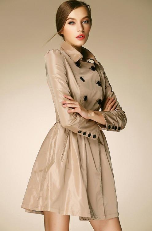 Flared Trench Coat Wardrobe Mag