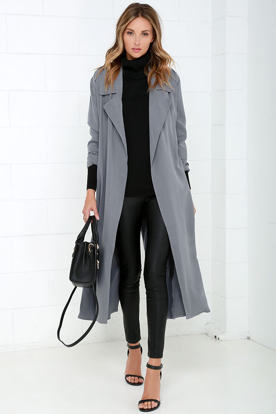 Grey Trench Coat Wardrobe Mag