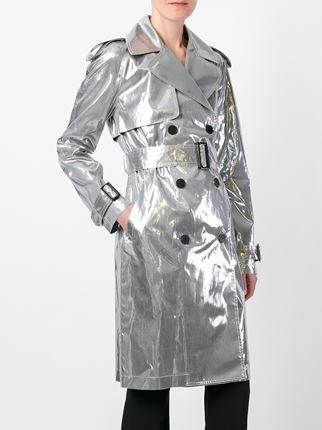 Metallic Trench Coat Wardrobe Mag