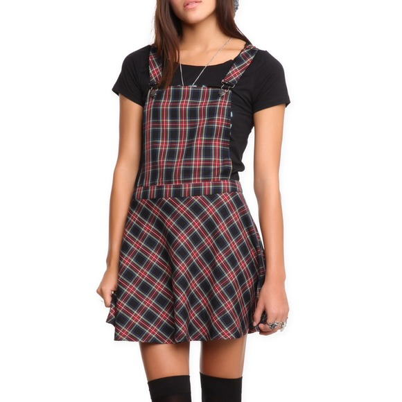1f4a8adf091 Plaid Overalls Skirt Plaid Overalls Dress