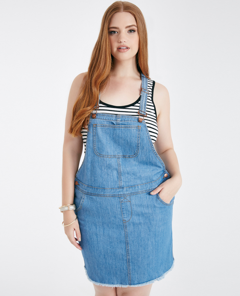 531bd770be Plus Size Overall Dress
