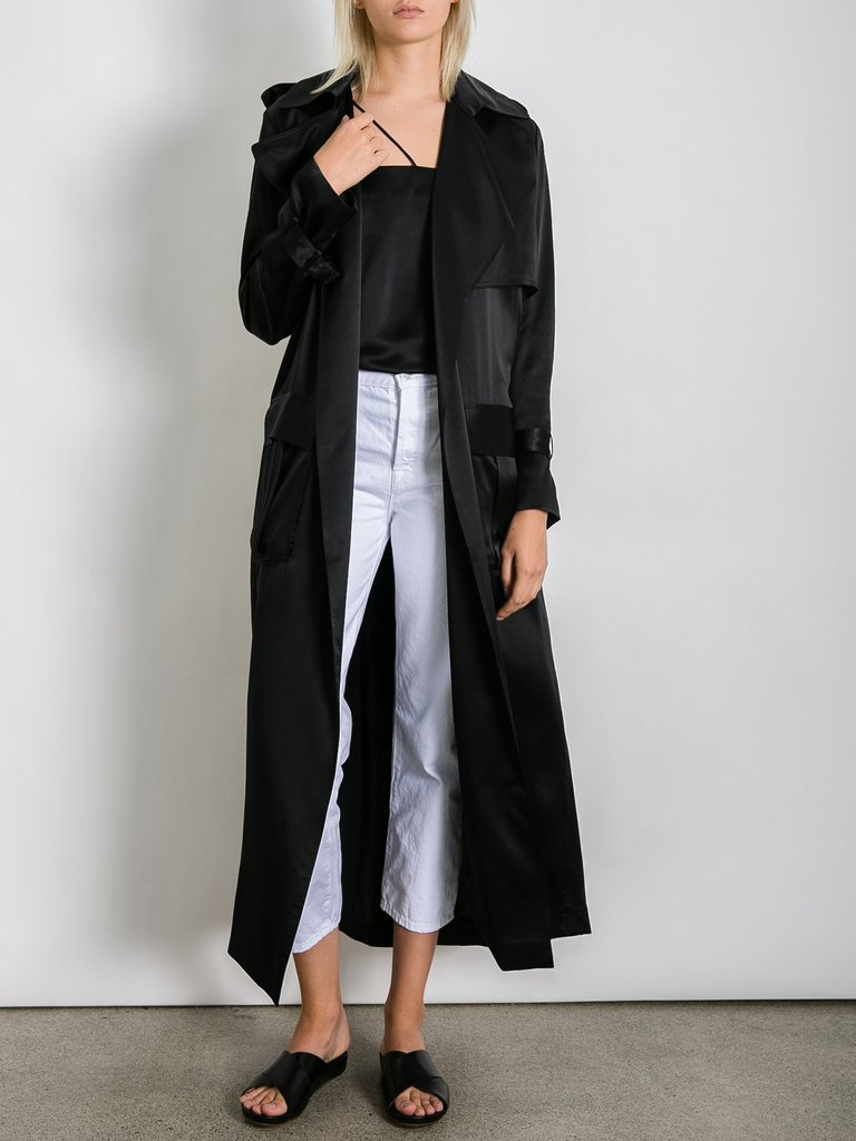 Silk Trench Coat Wardrobe Mag