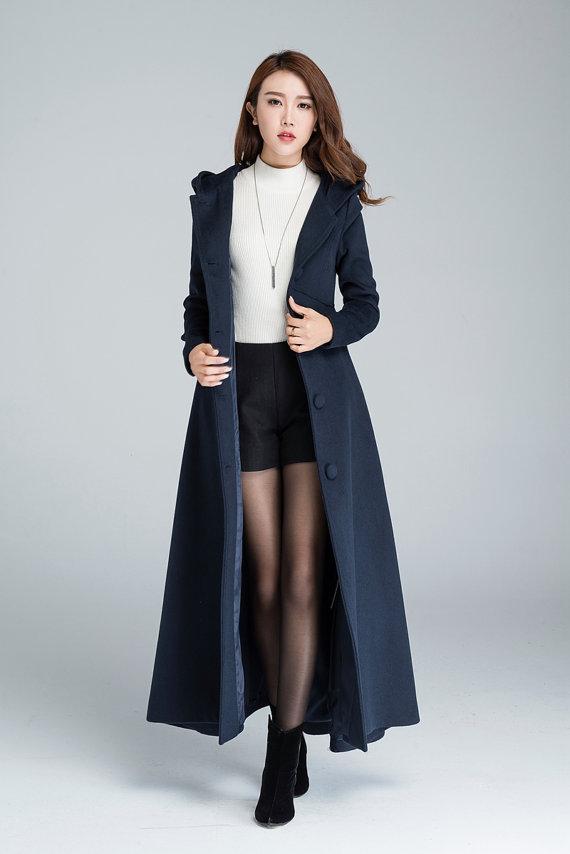 Trendy Womens Coats: Women's Long Trench Coat