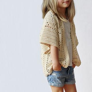 Girls White Cardigan Sweater