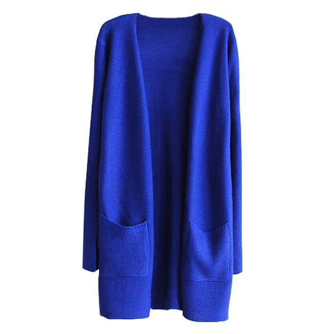 Royal Blue Cardigan Wardrobe Mag