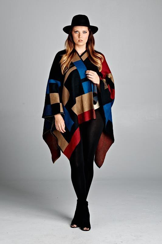 Poncho Sweater With Sleeves