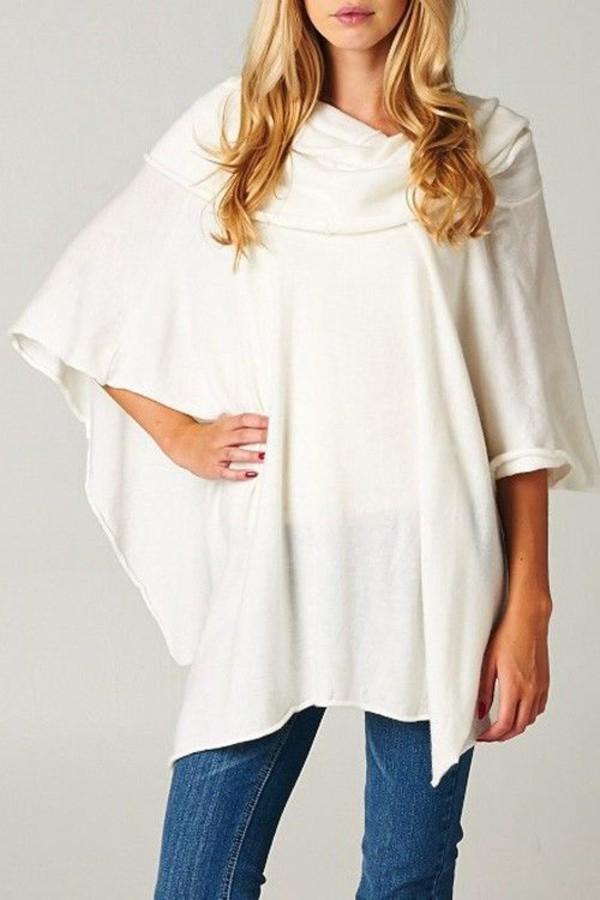 White Poncho Wardrobe Mag
