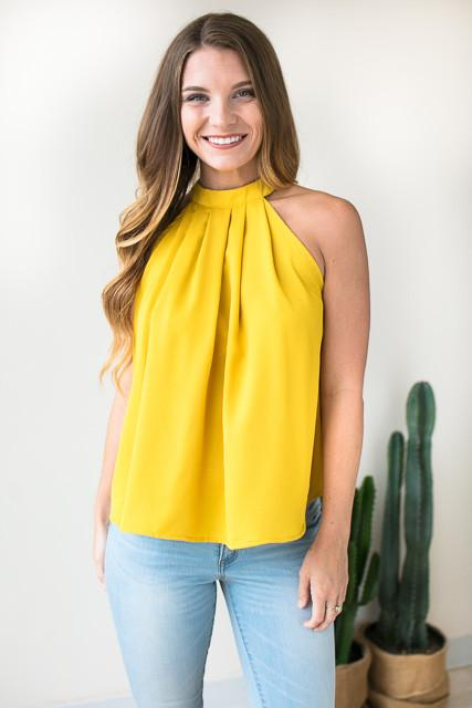 Yellow Halter Top Wardrobemag Com